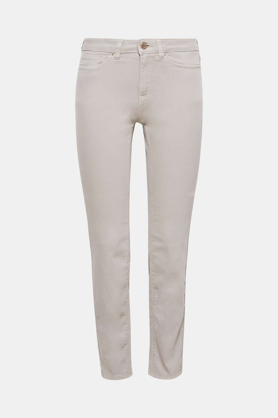 These slim fit five-pocket trousers in stretch cotton are a must-have basic.