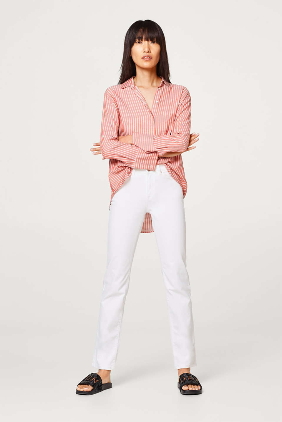 edc - Basic trousers in cotton with stretch
