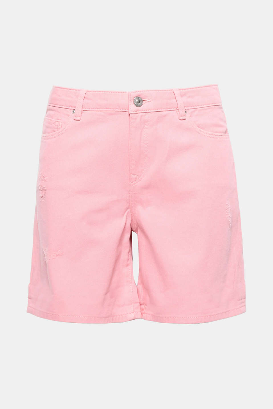 If you want to feel comfy and look cool when the weather warms up then these loose-fitting shorts made of destroyed cotton denim are the perfect choice!