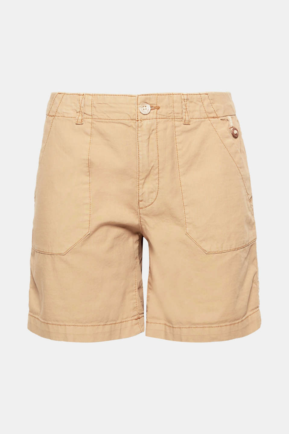 These shorts are a must-have basic for summer in pure cotton with utility style patch pockets.