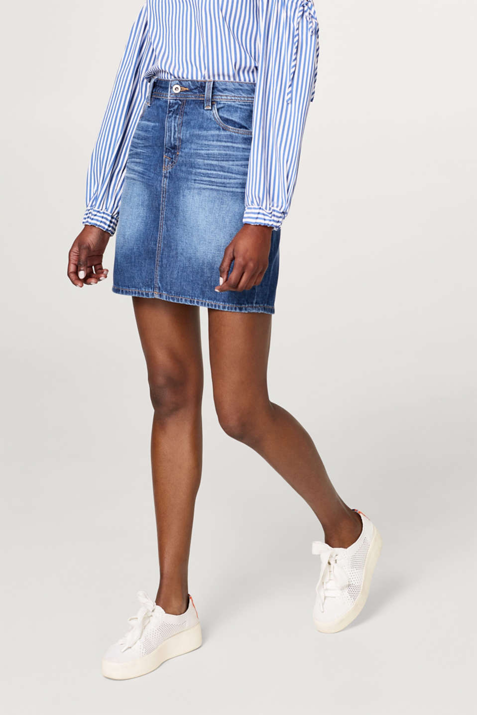 edc - Denim skirt in recycled cotton