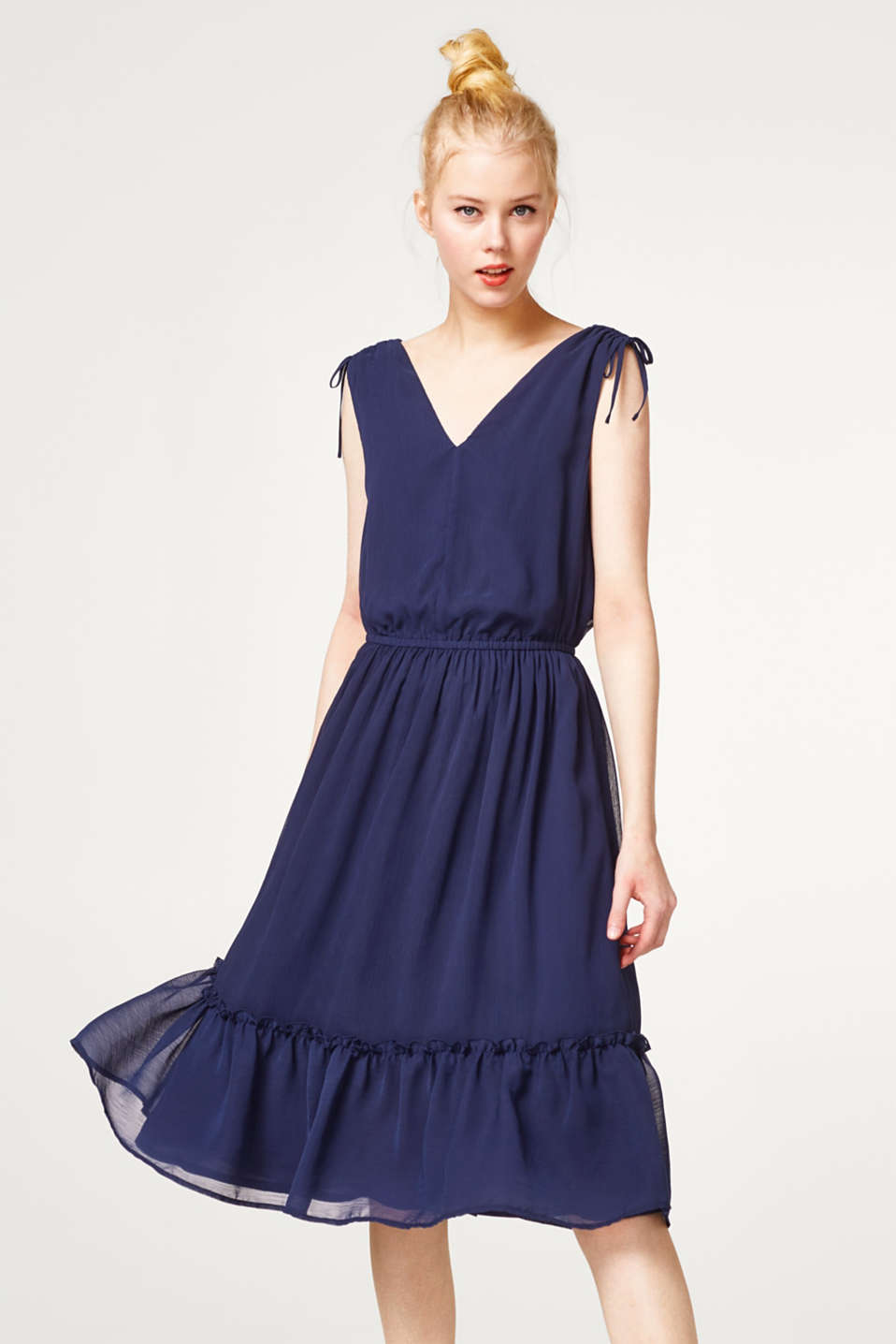 edc - Midi dress in delicate crinkle chiffon