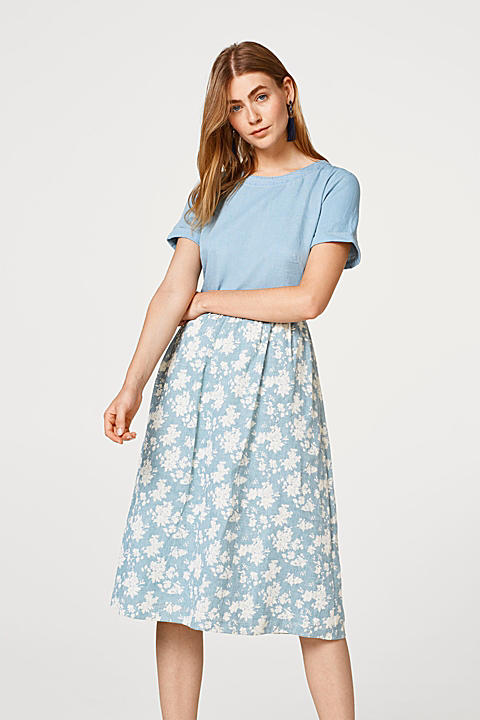 Kurzarm-Kleid mit Blumen-Print