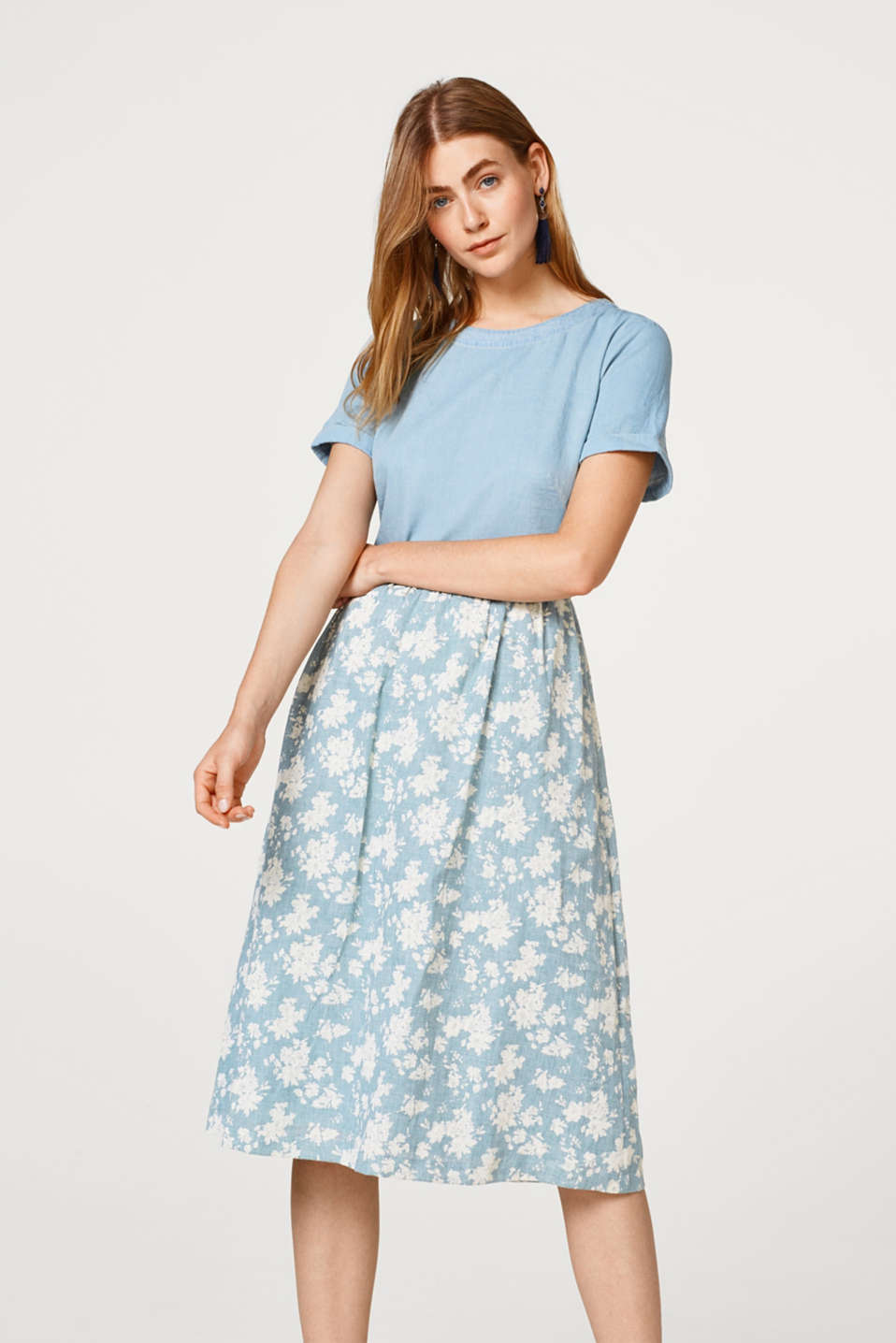edc - Short-sleeved dress with floral print
