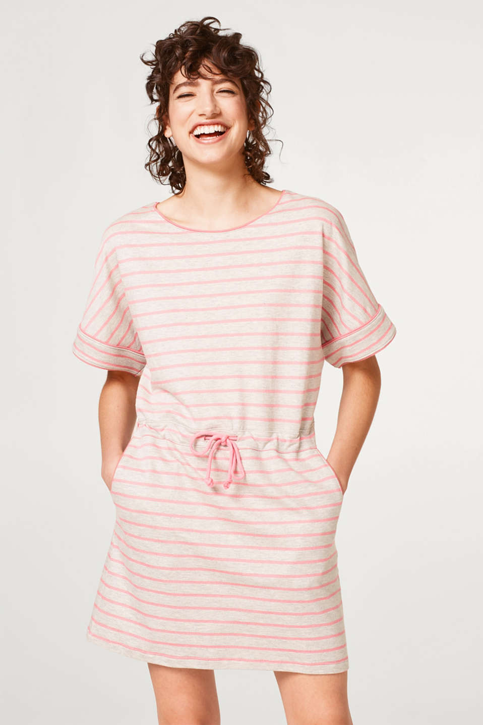 edc - Casual sweatshirt dress in a striped look