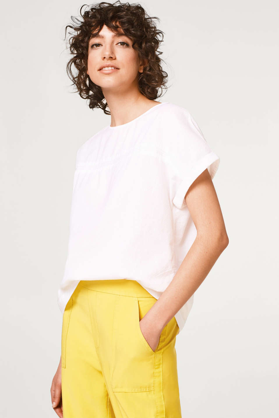 edc - Boxy blouse made of organic cotton