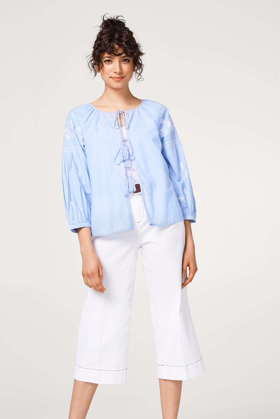edc - Embroidered blouse jacket in cotton