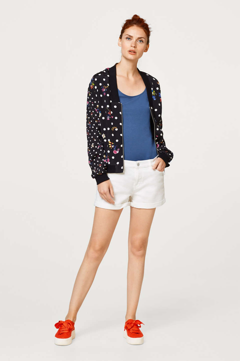 Bomber-Jacke im trendy Muster-Mix-Look