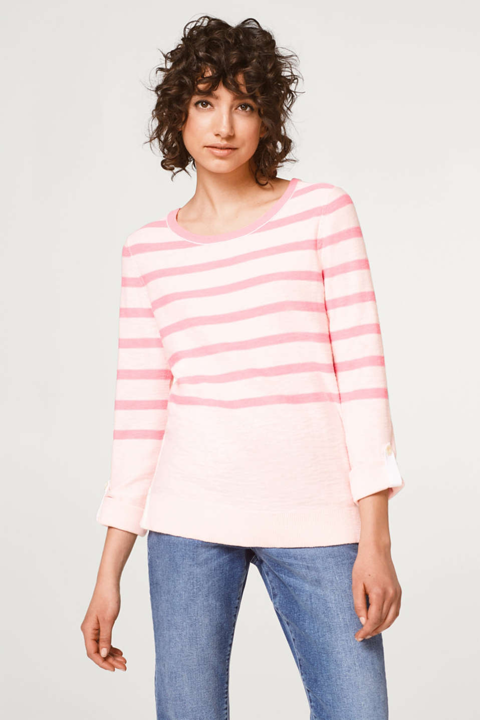 edc - Printed striped jumper in 100% cotton