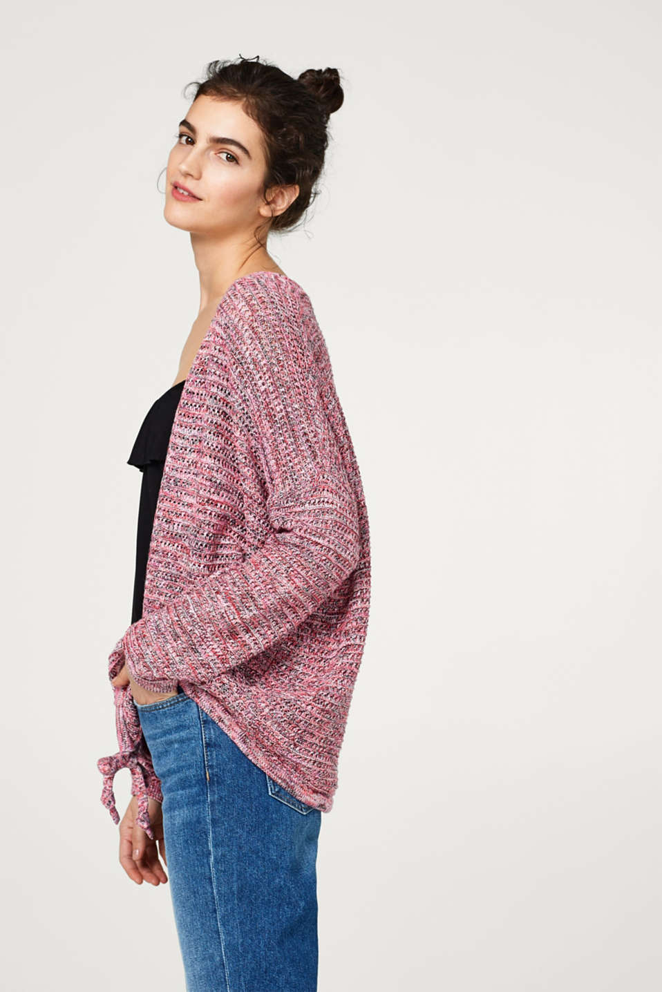 edc - Lockerer Multicolor Cardigan aus 100% Baumwolle