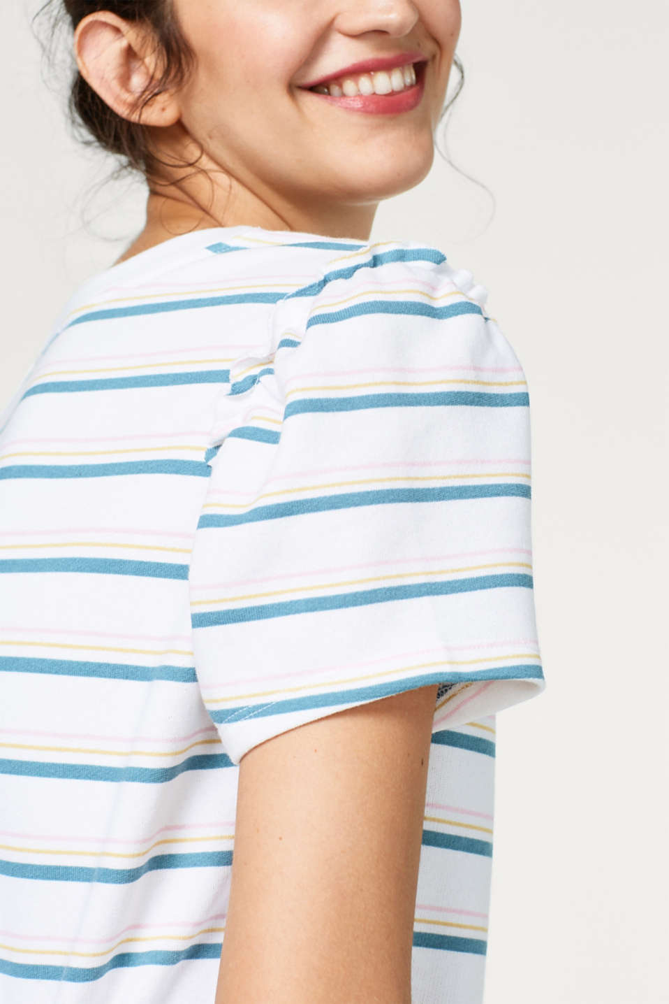 Soft sweatshirt in a striped look