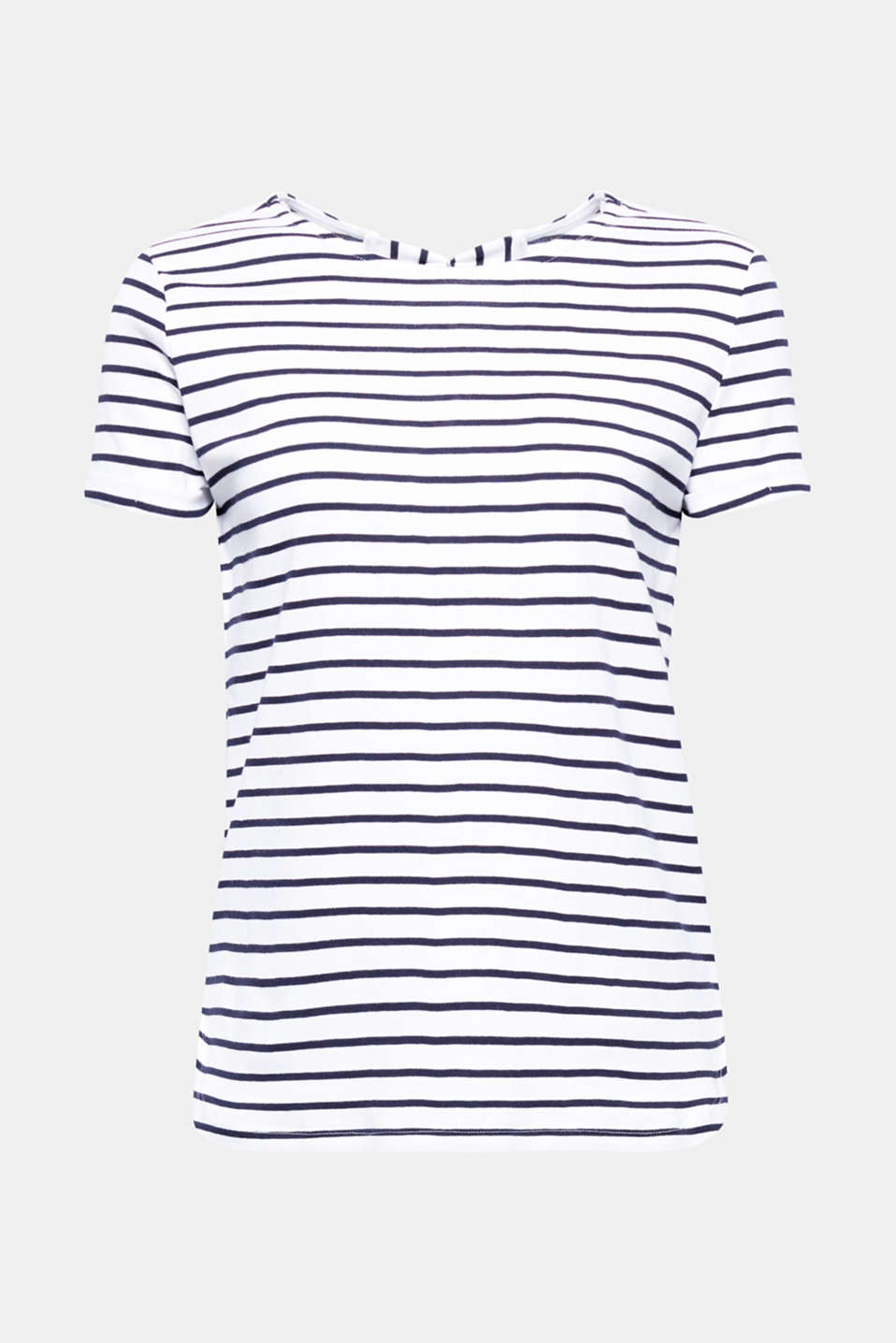 The back of this classically striped T-shirt is sure to catch the eye with its beautiful bow decorations. The finely ribbed cotton jersey is exceptionally comfortable to wear.