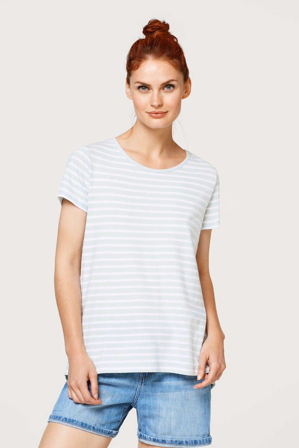 edc - Layered T-shirt with broderie anglaise