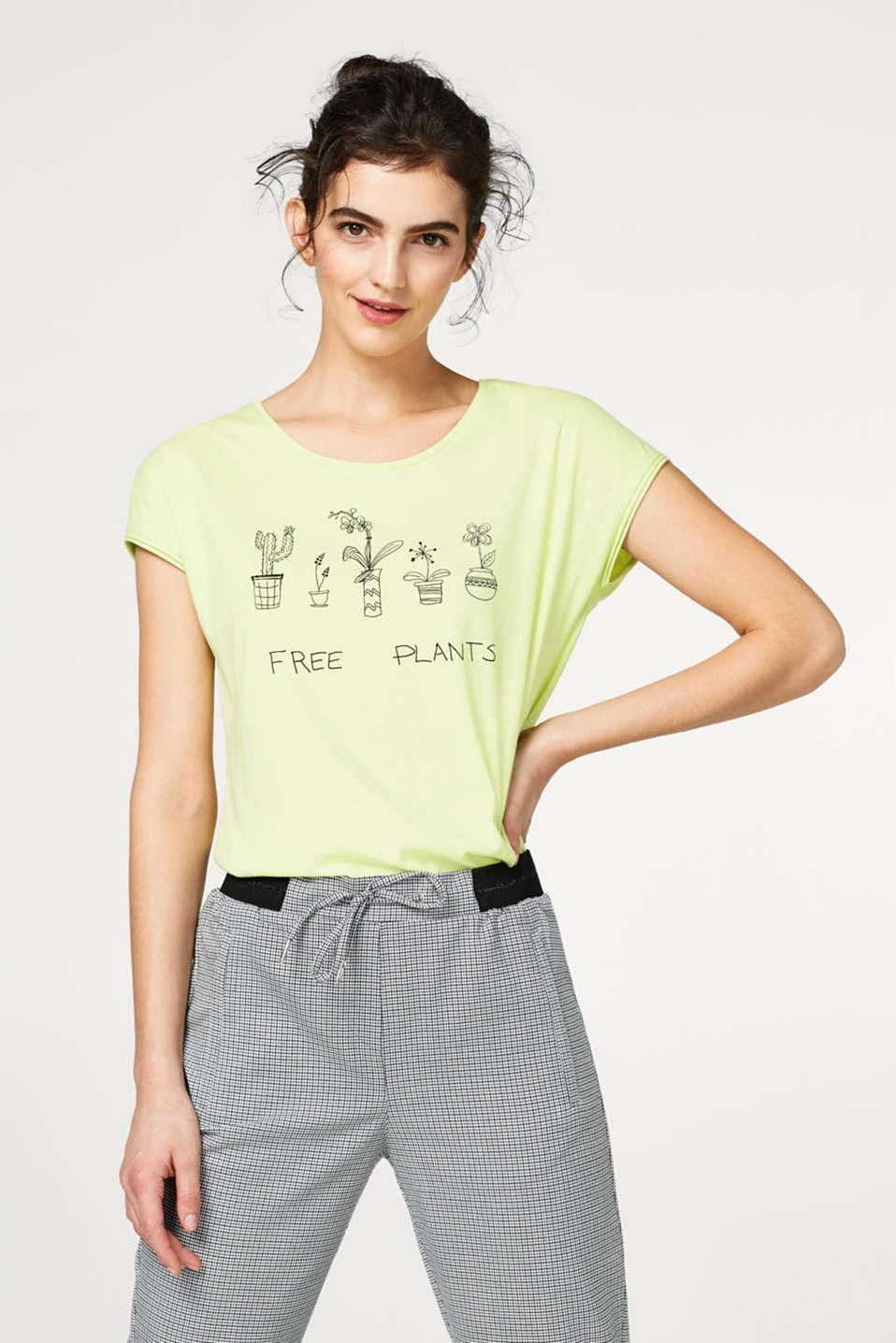 cd66b68c50b0 edc - T-Shirt mit Frontprint, 100% Baumwolle im Online Shop kaufen