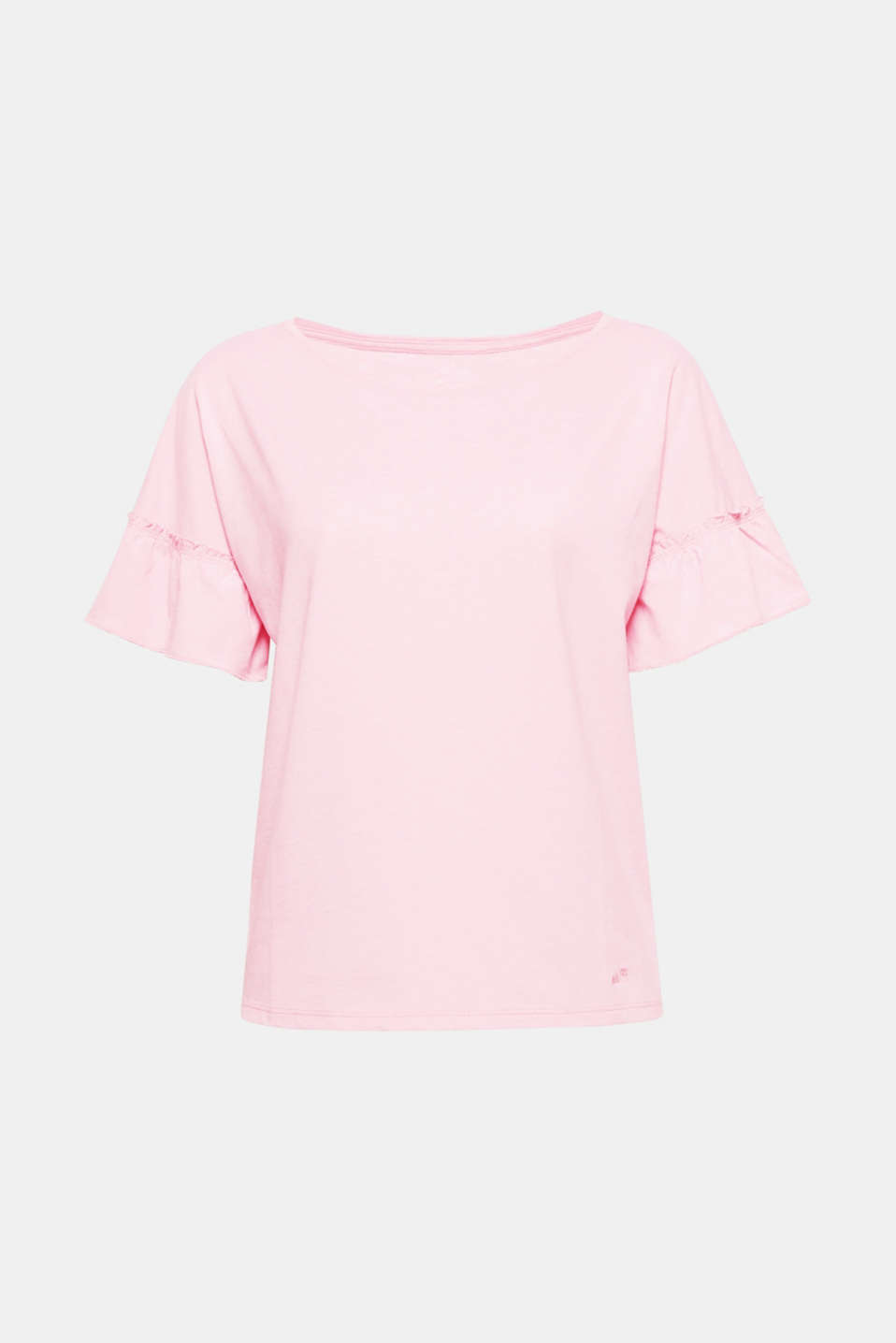 The trendy boxy silhouette with fashionable flounce sleeves gives this super soft T-shirt a certain je ne sais quoi!