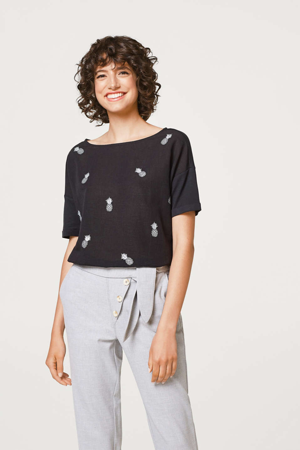edc - Softly draped T-shirt with a print