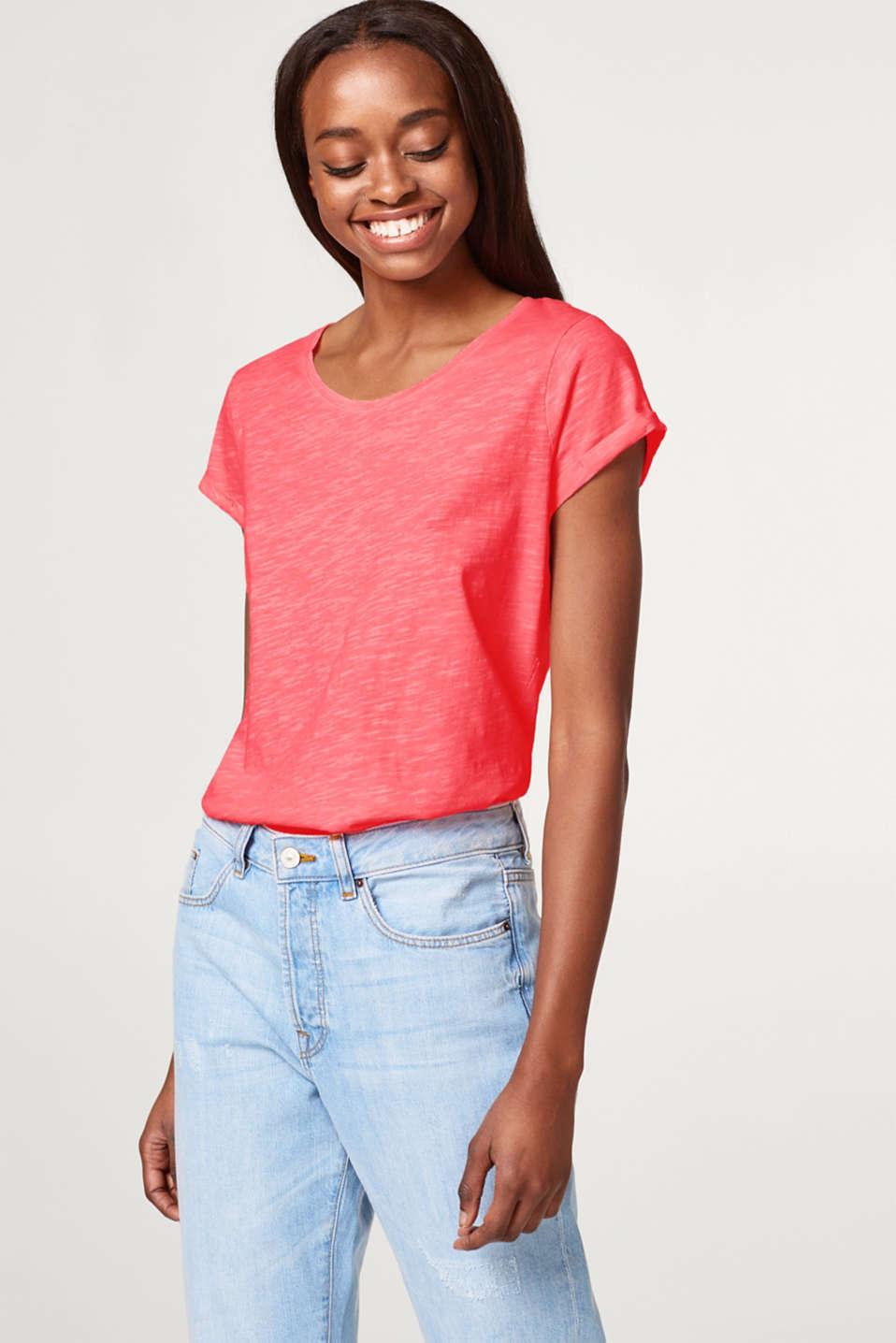 edc - Neon slub T-shirt in 100% cotton