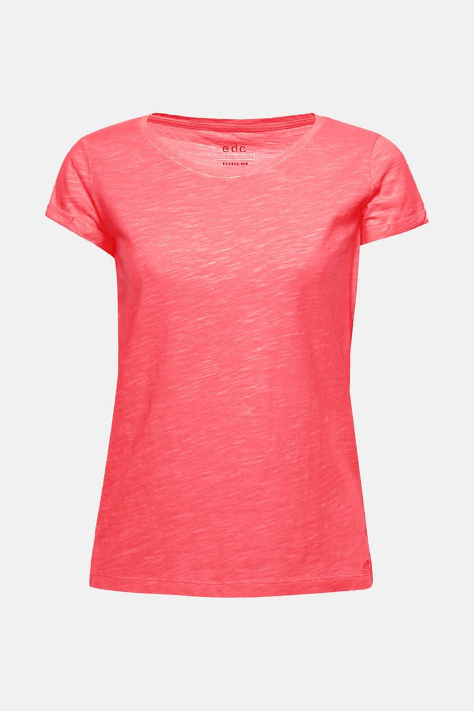 This cotton T-shirt in a relaxed cut and dazzling neon shade will give you a super fresh look in an instant!