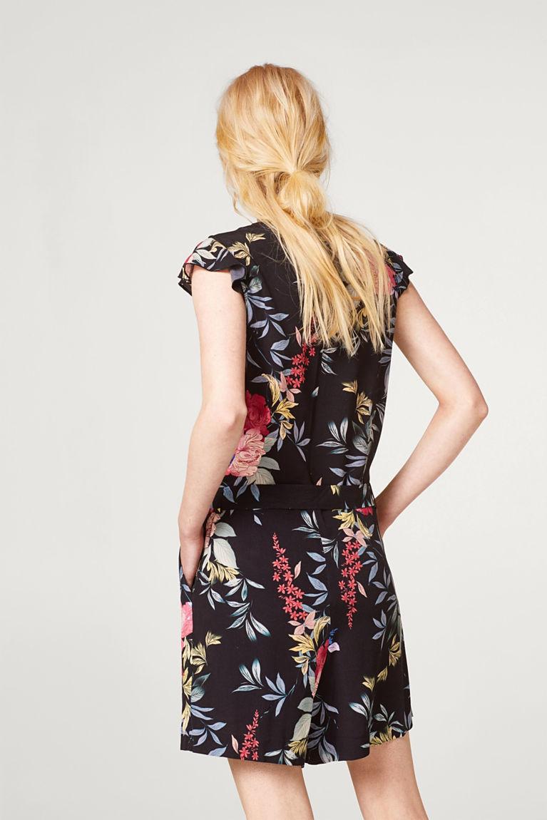 Korte jumpsuit met bloemenprint | EDC