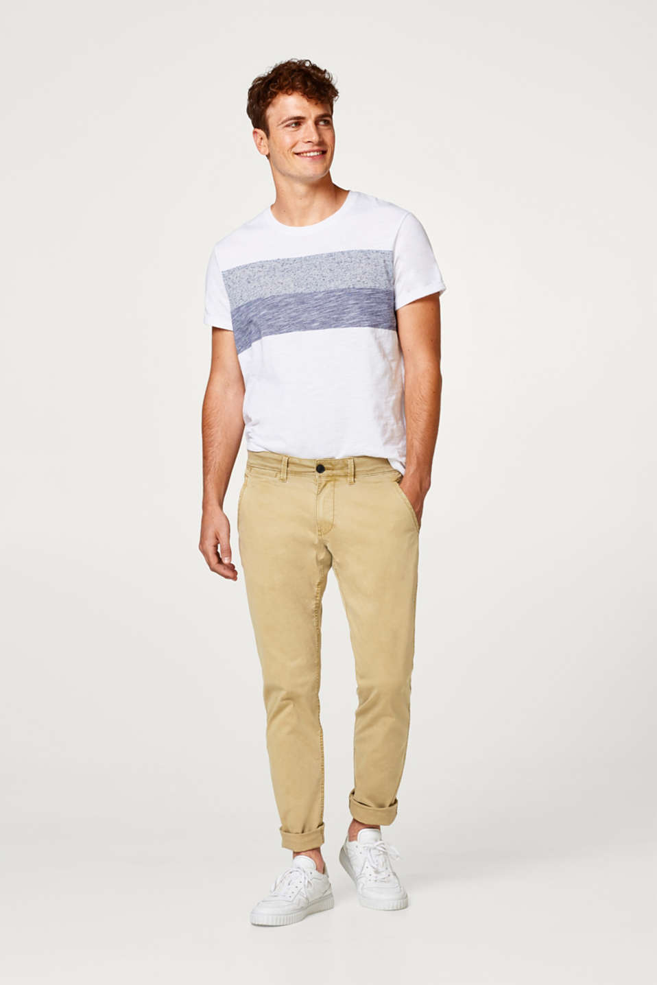 edc - Classic stretch chinos in fresh trend colours