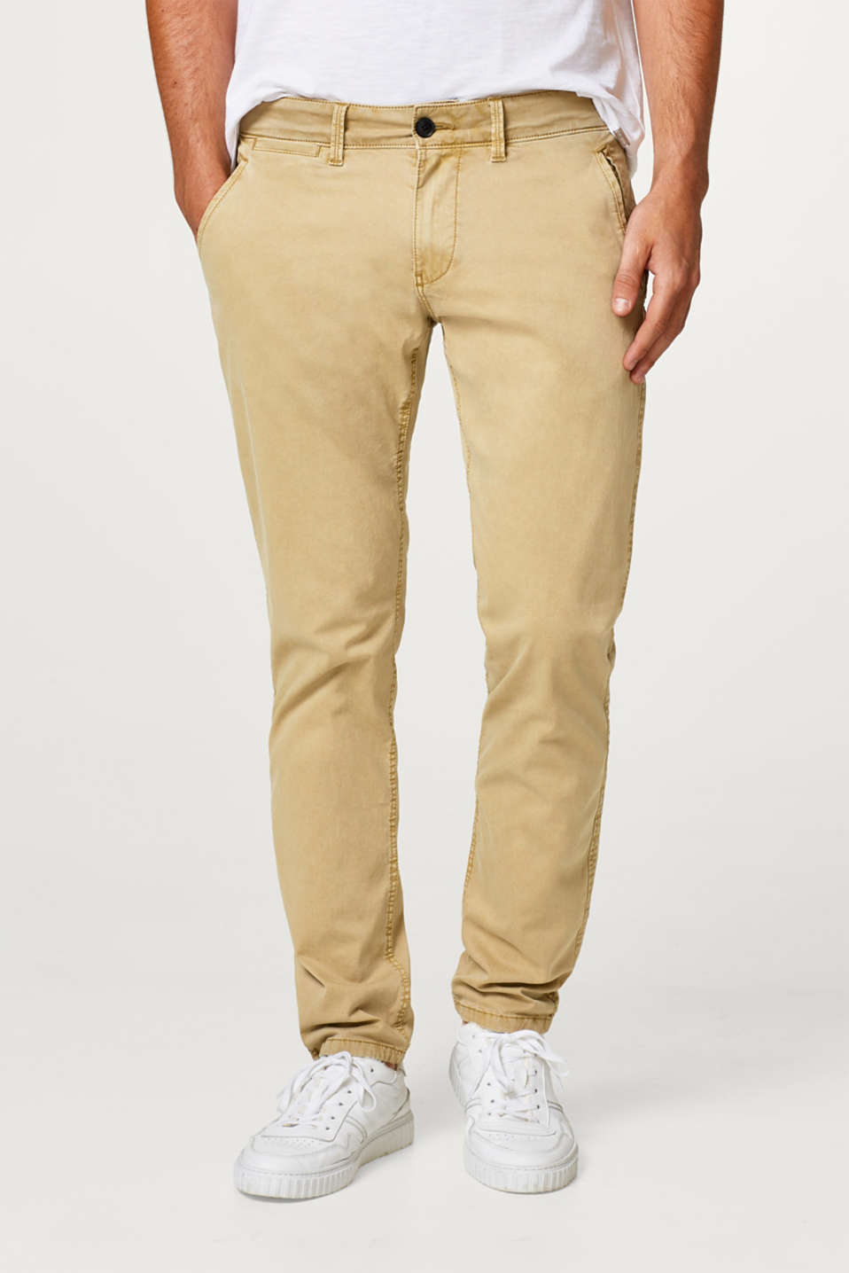 Classic stretch chinos in fresh trend colours