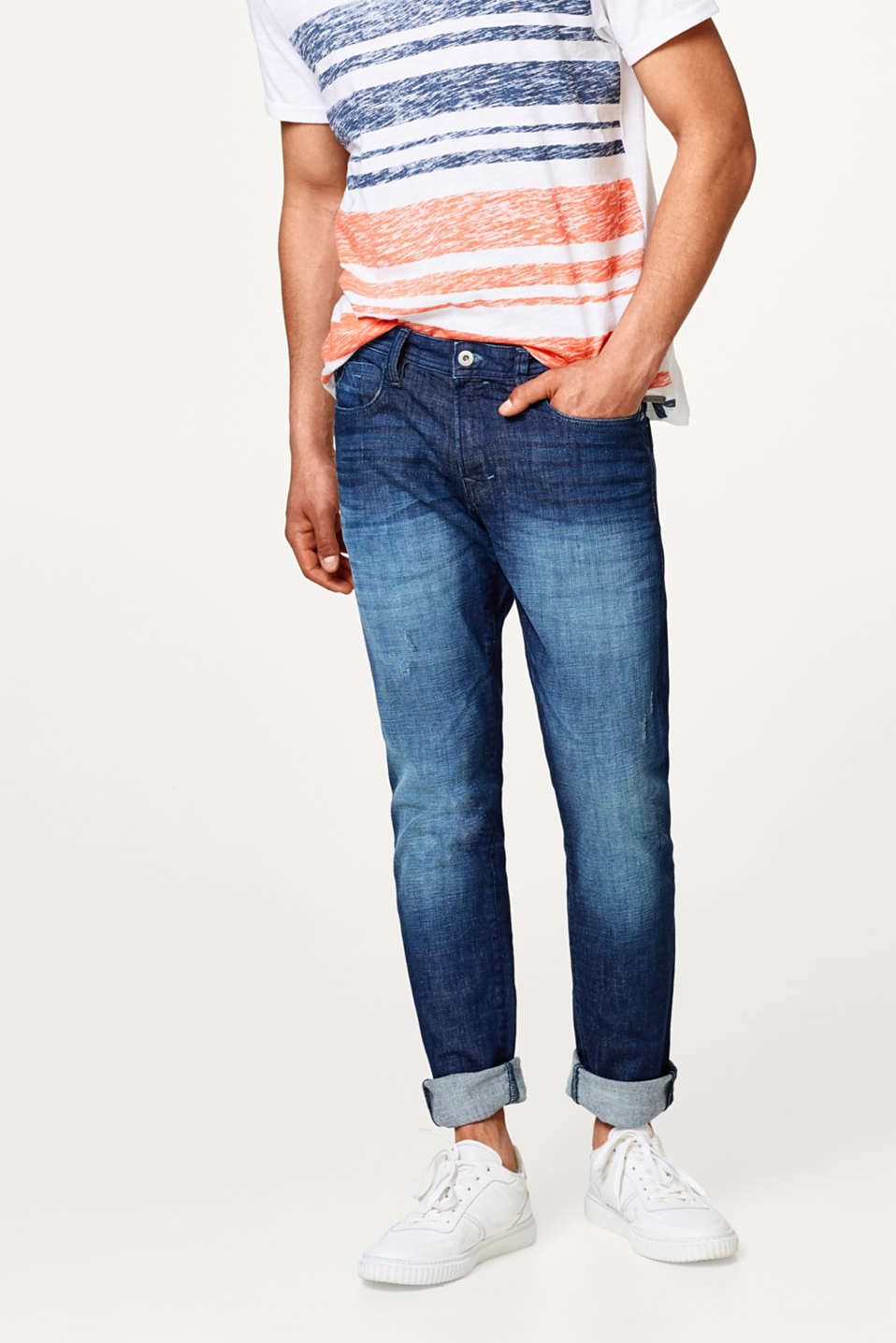 edc - Stretch jeans in a vintage wash