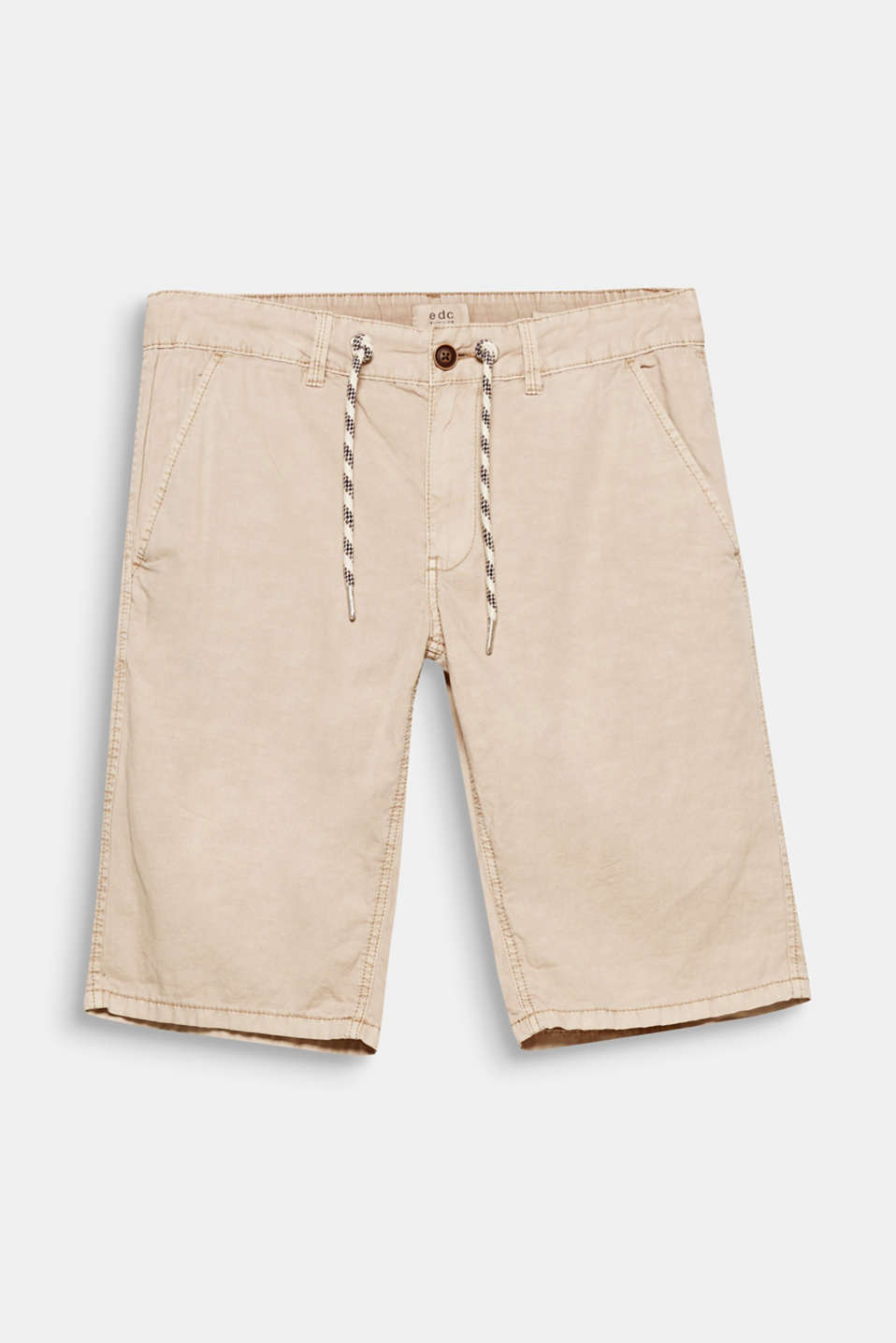 These shorts in a summery, lightweight look impress with their cotton-linen blend.