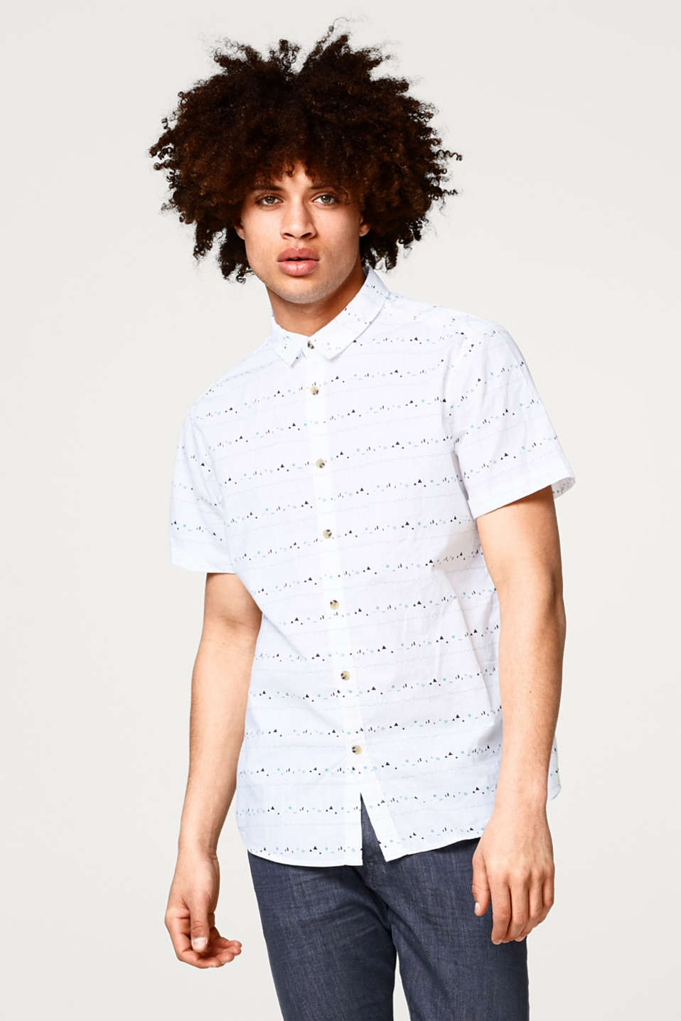 edc - Short sleeve shirt with a graphic minimalist print