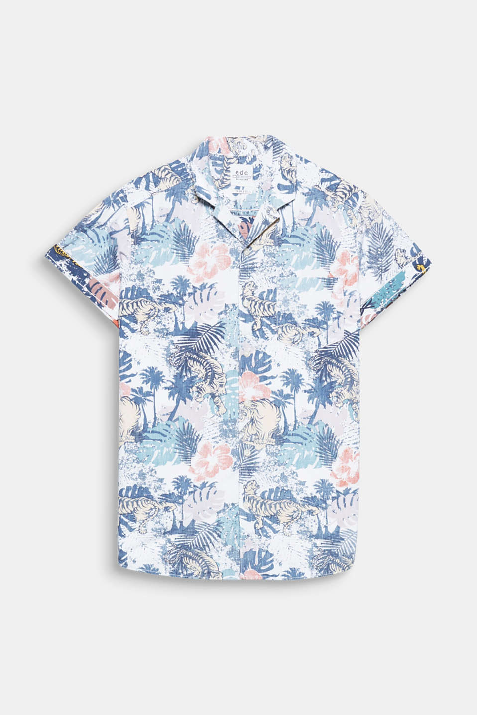 It's tropical! The distinctive inside-out print and the Cuban collar make this shirt a fashionable favourite.