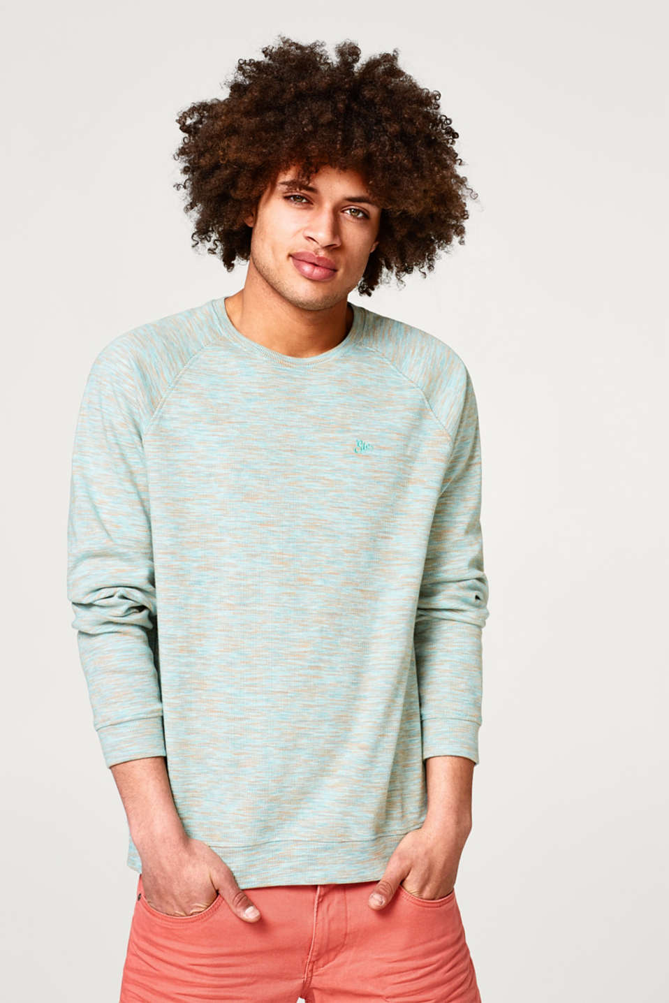 edc - Space dyed sweatshirt in pure cotton