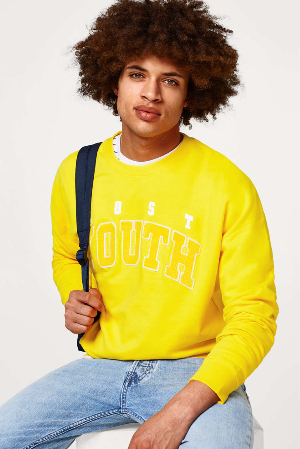 edc - Oversized sweatshirt with dropped shoulders
