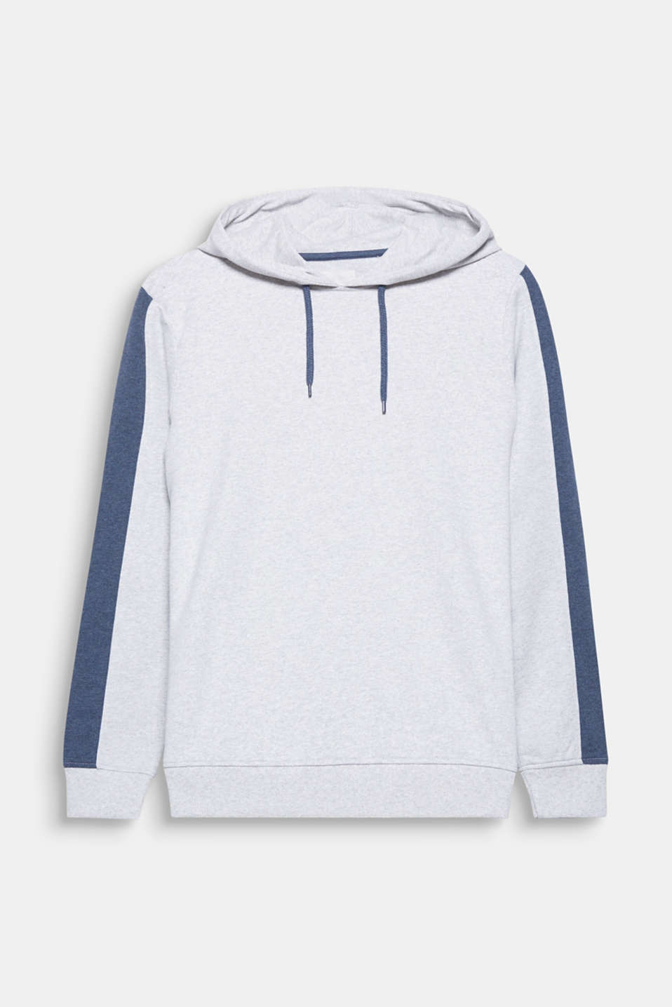 Distinctive block stripes give this hoodie a sporty look.