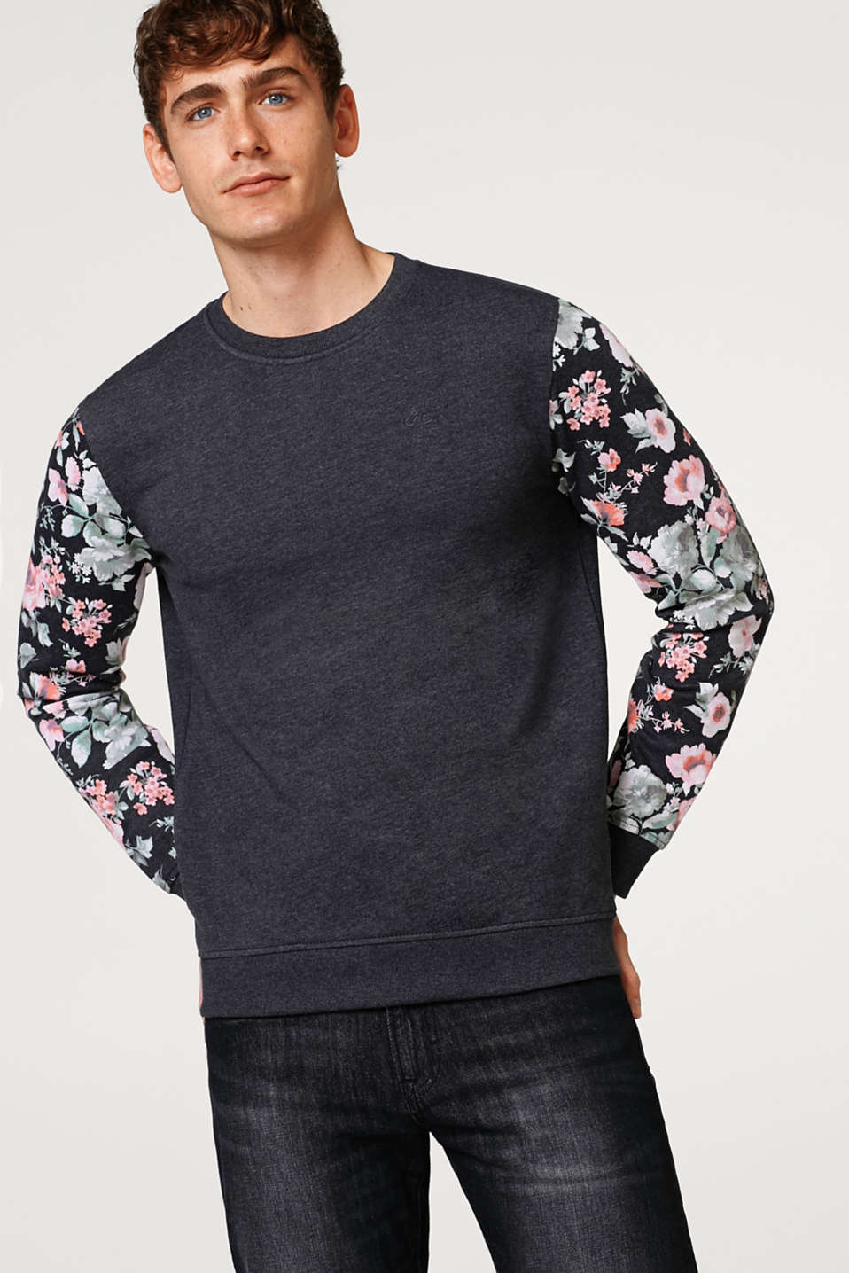 edc - Sweatshirt with sleeves featuring a floral print