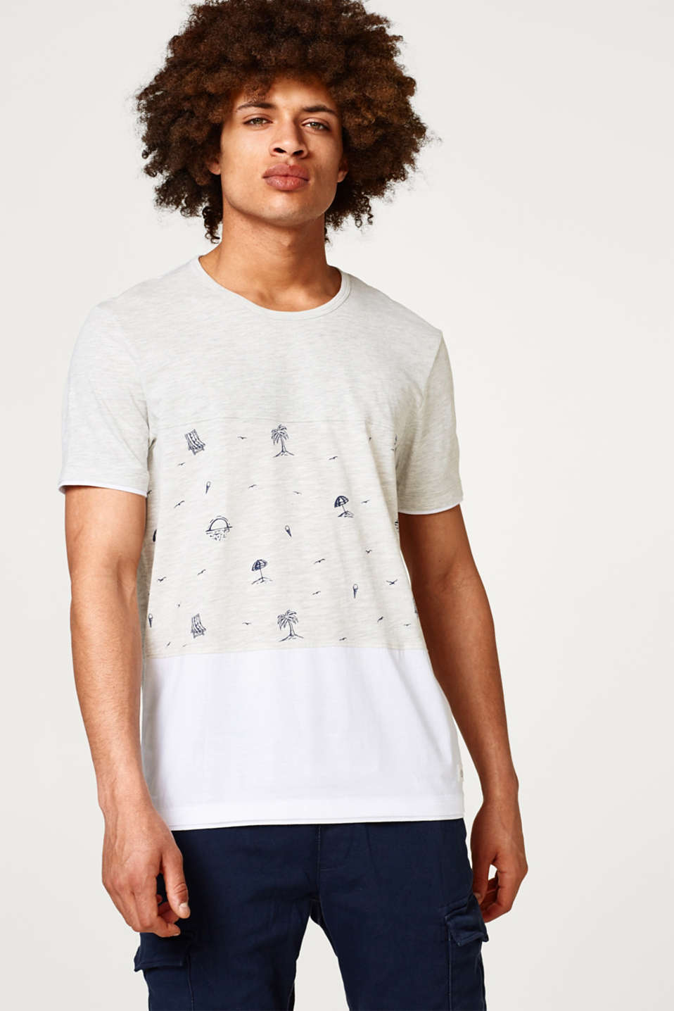 edc - Jersey T-shirt with summery prints