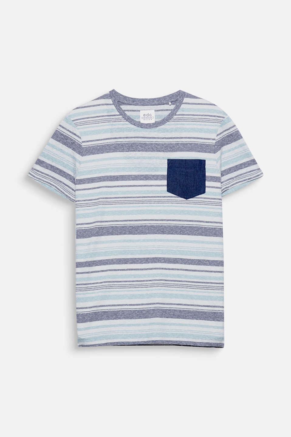 The casual striped look gives this jersey T-shirt a casual look.
