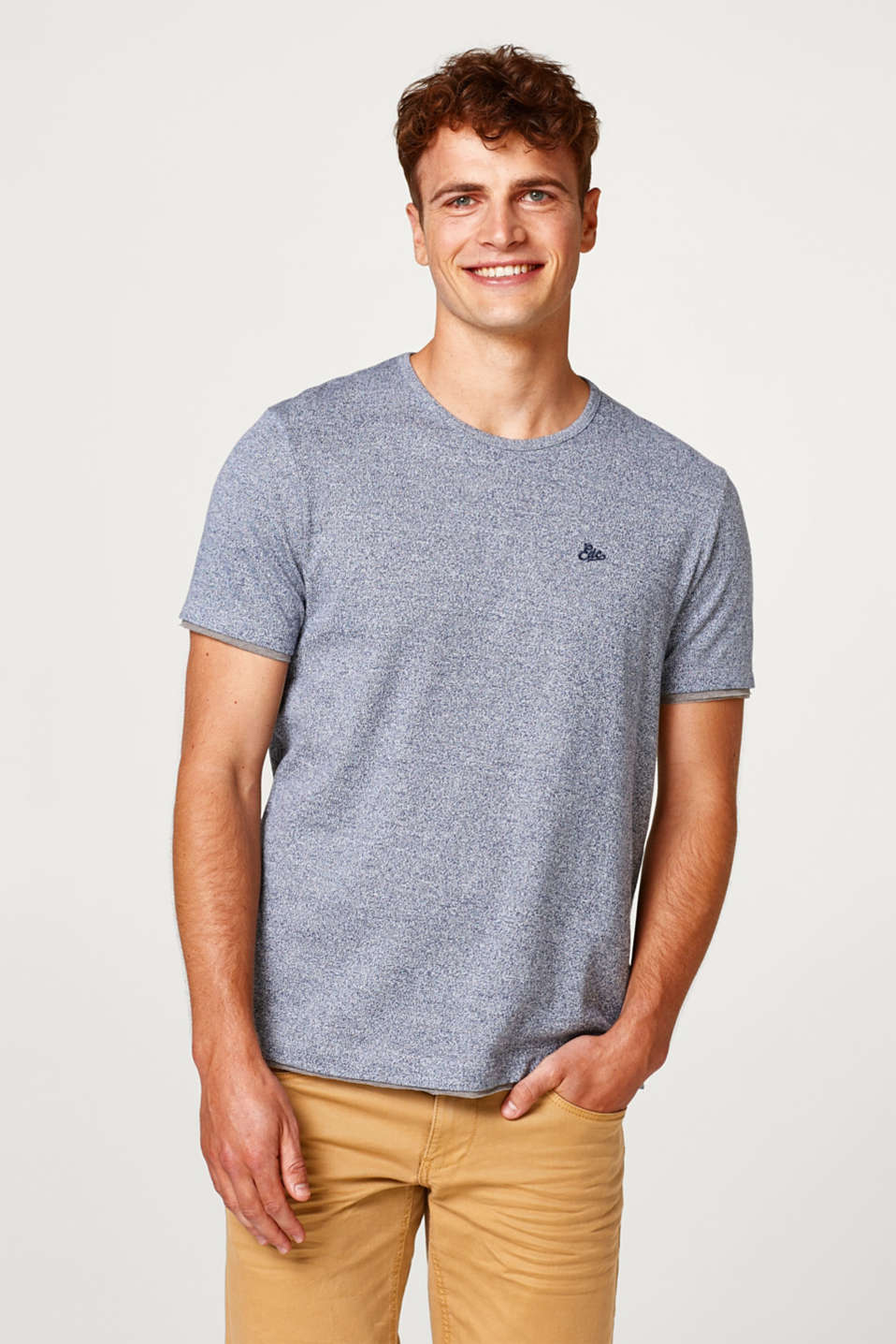 edc - Layered cotton jersey T-shirt