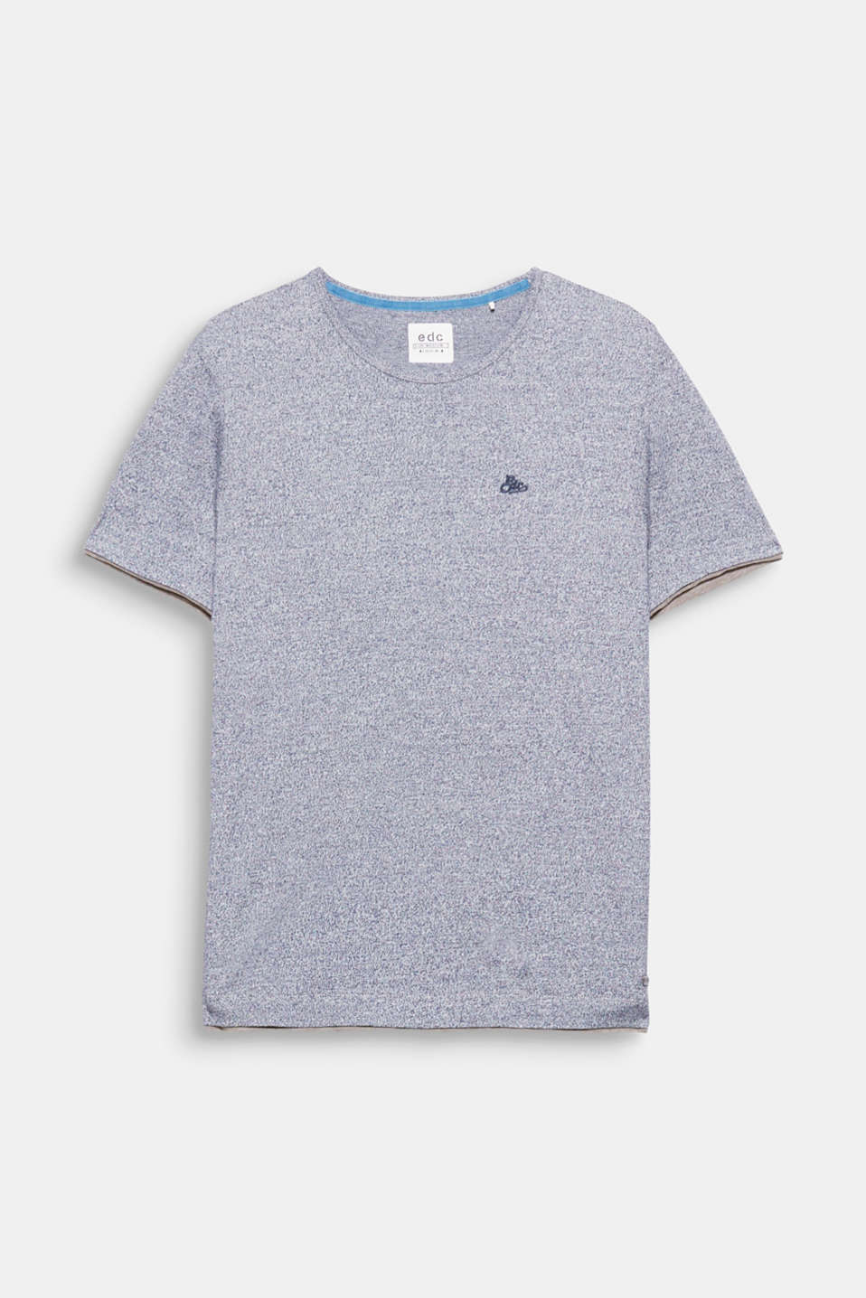 A sporty look! Two-tone jersey in a layer look: T-shirt made of premium organic cotton.
