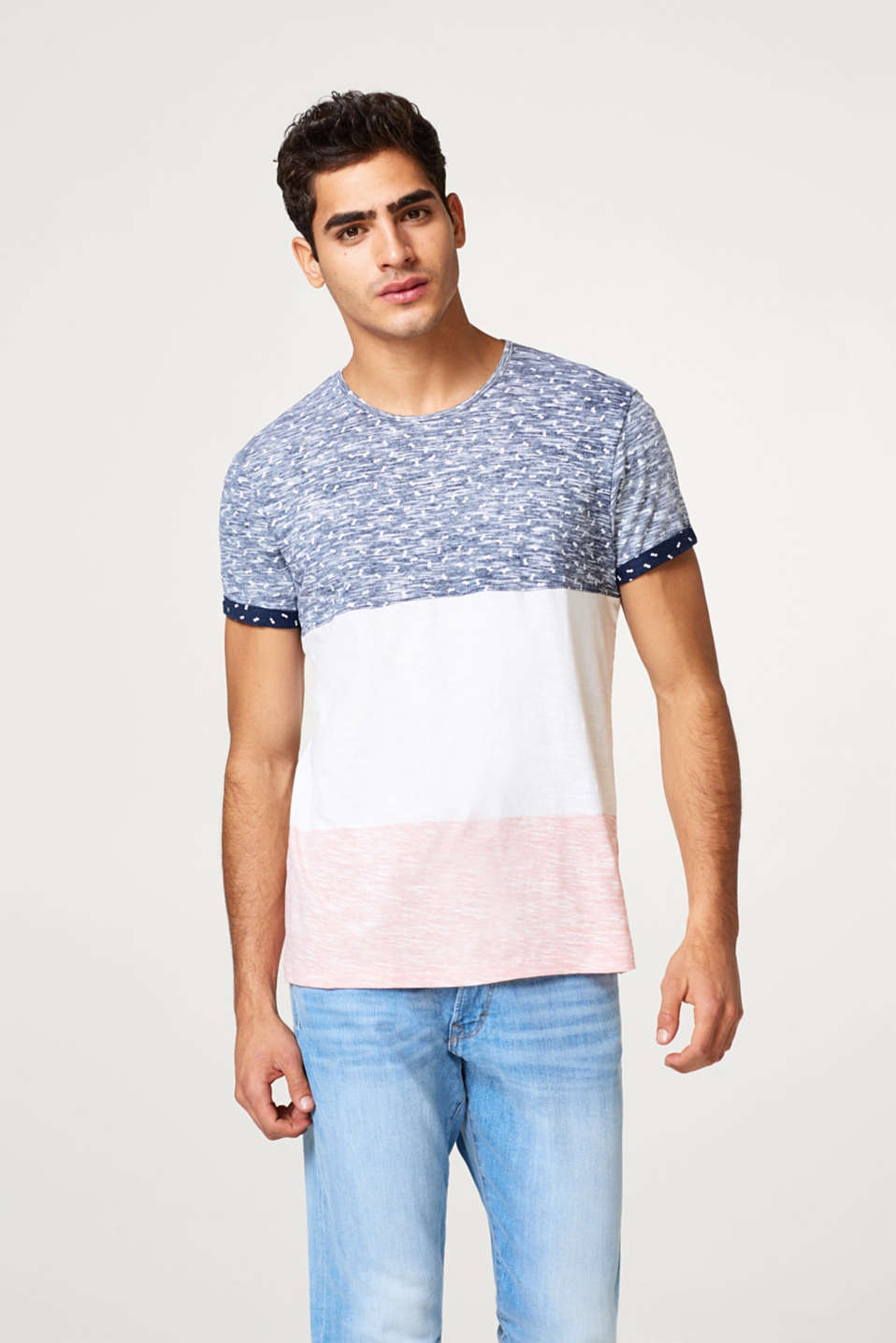 edc - Slub jersey T-shirt with block stripes
