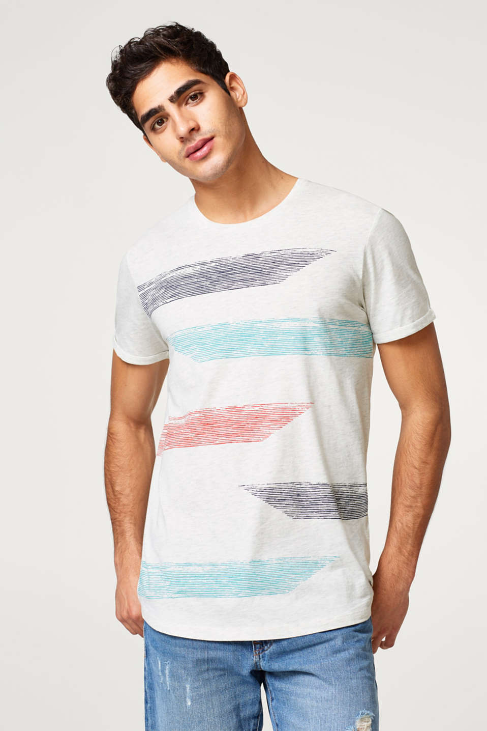 edc - Jersey-Shirt mit Color-Effekten
