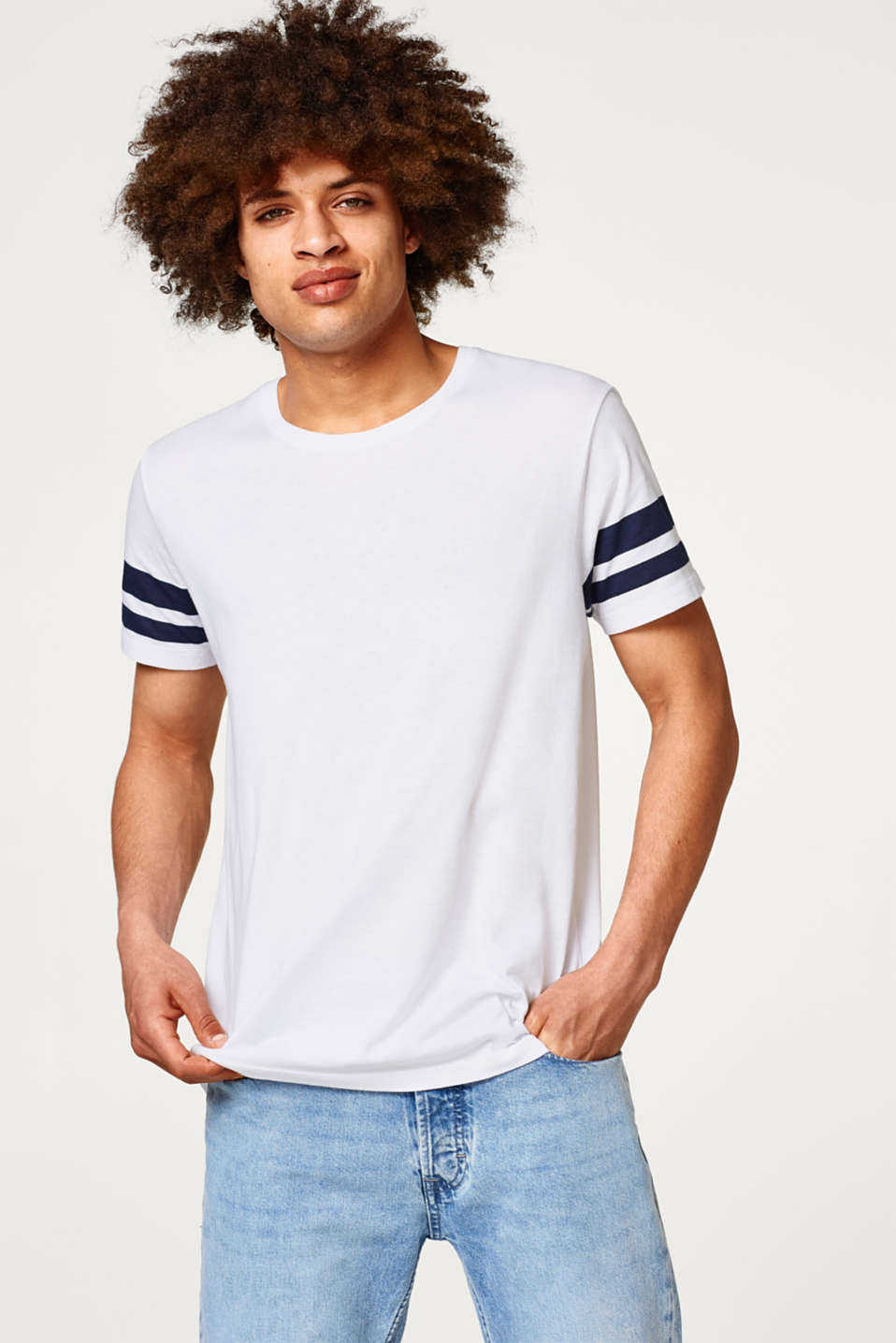 edc - Jersey T-shirt with accentuated stripes