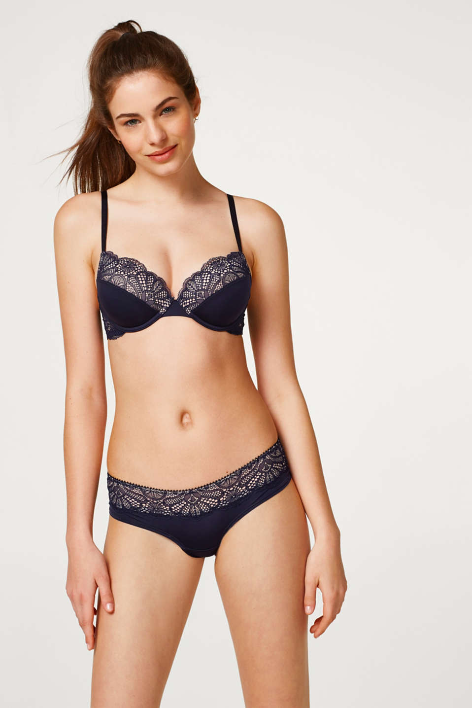 edc - Padded underwire bra with lace