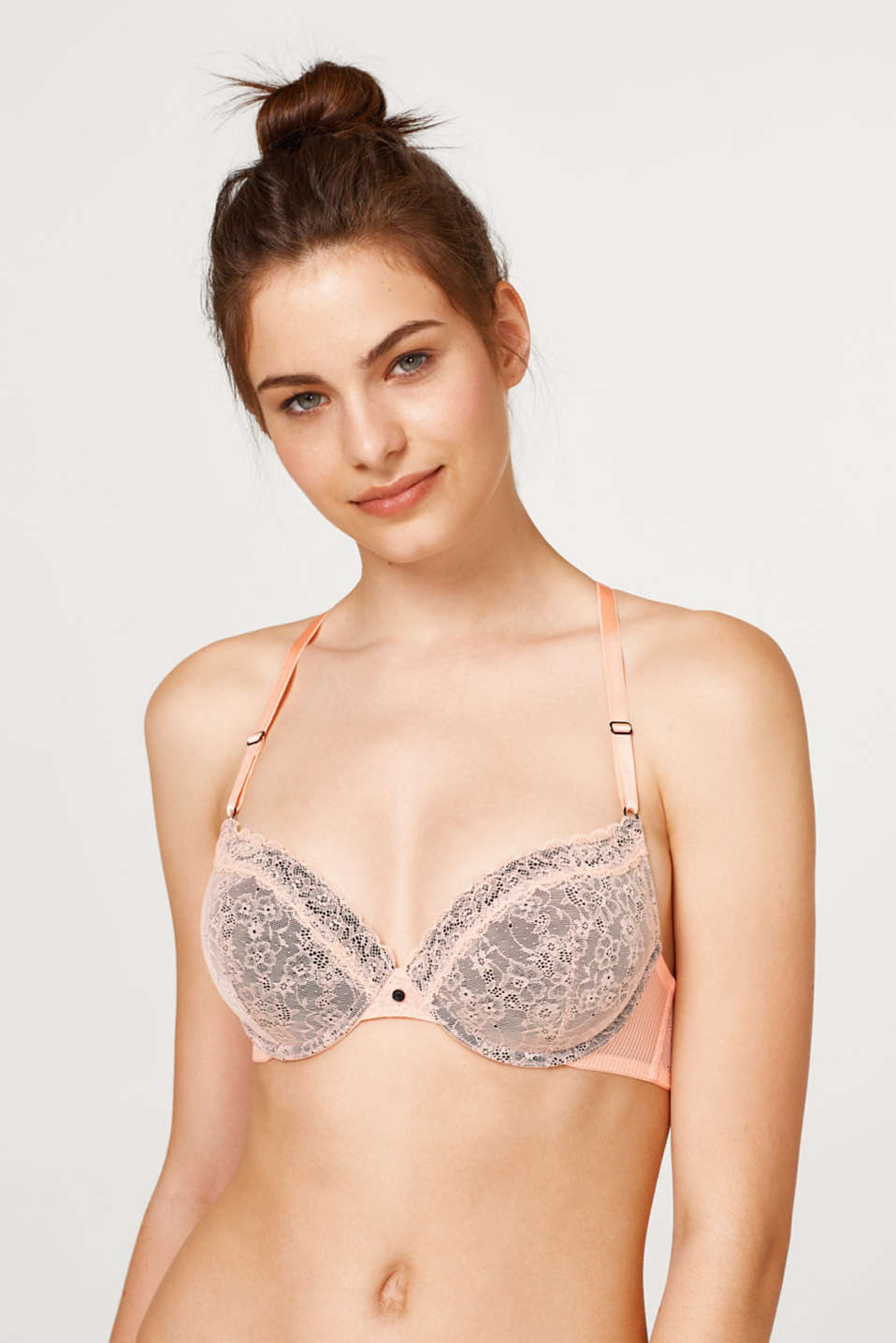 edc - Padded racer back bra in two kinds of lace