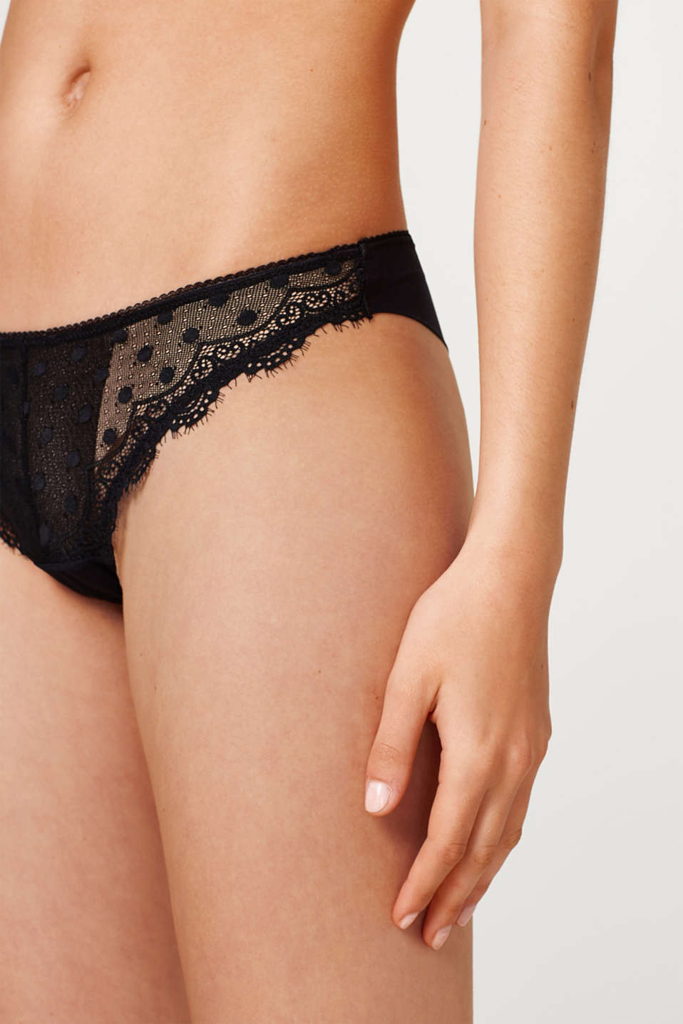 Brazilian hipster briefs in polka dot lace