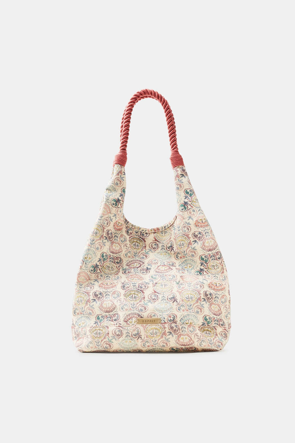 Esprit - Patterned shoulder bag in a rustic wash