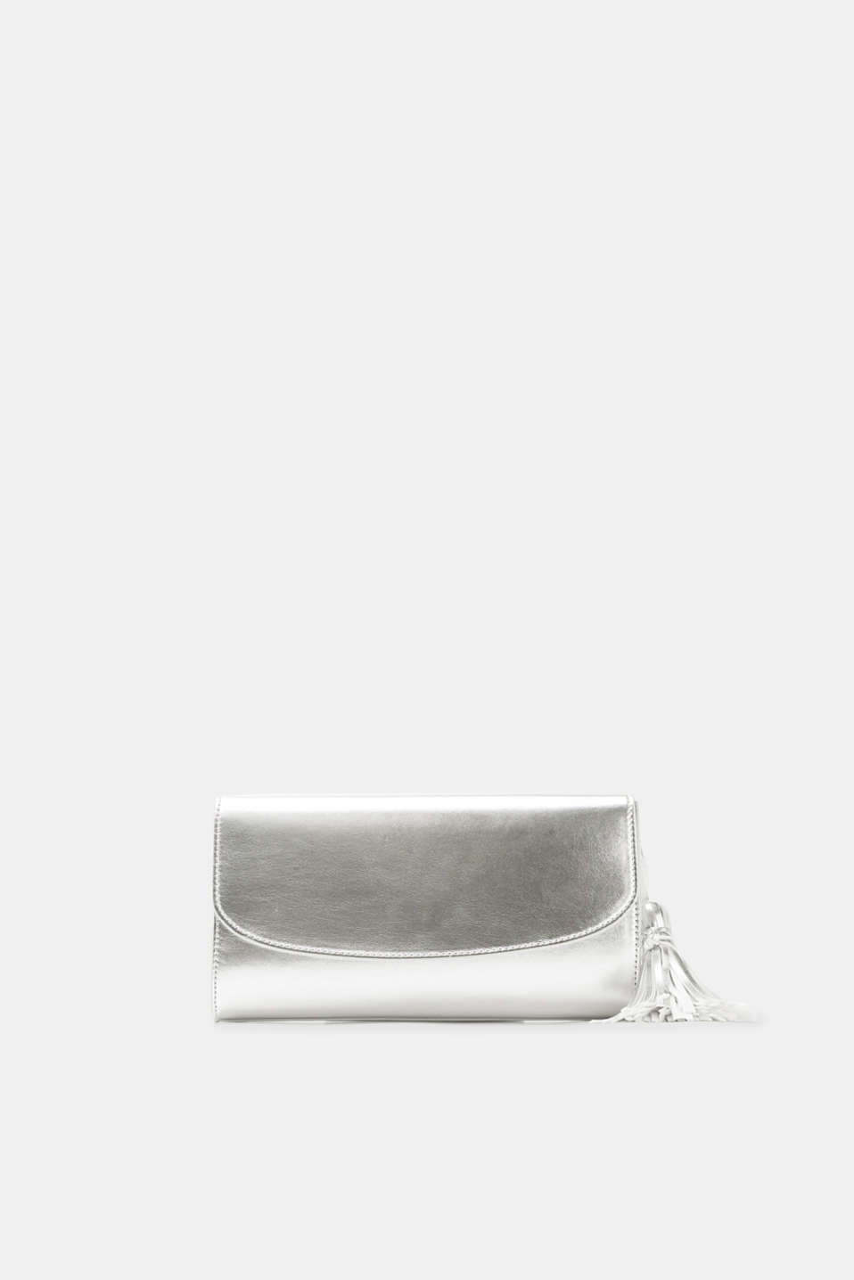 Esprit - Clutch with tassel in authentic faux leather