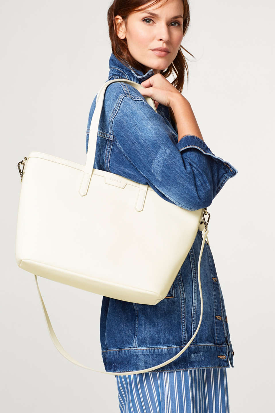 Faux leather classic shopper