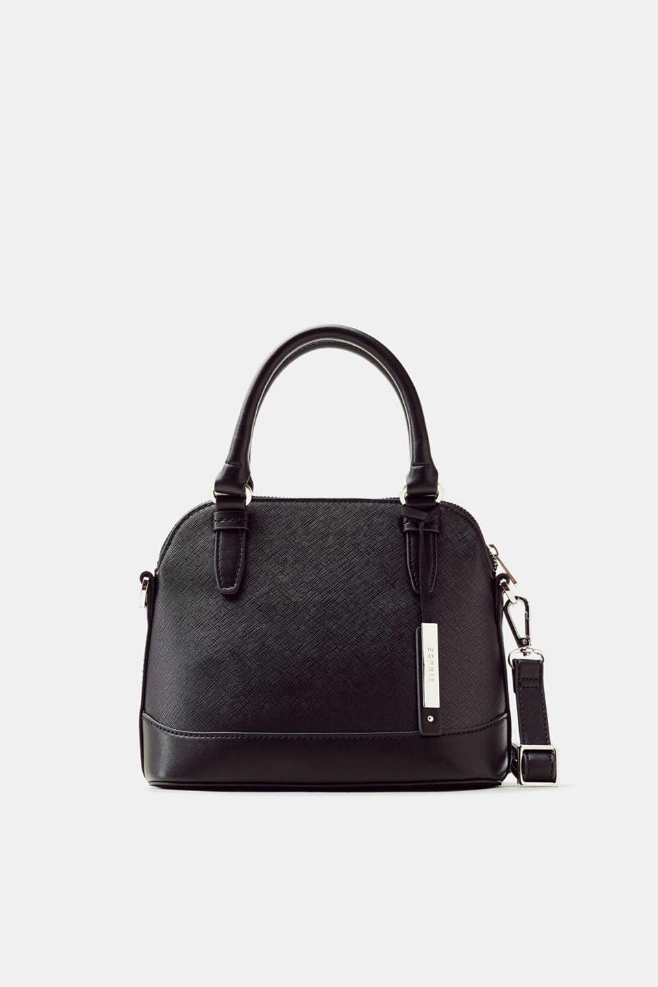 Schulterttasche in Leder-Optik für Damen Black Esprit 6Cqzt