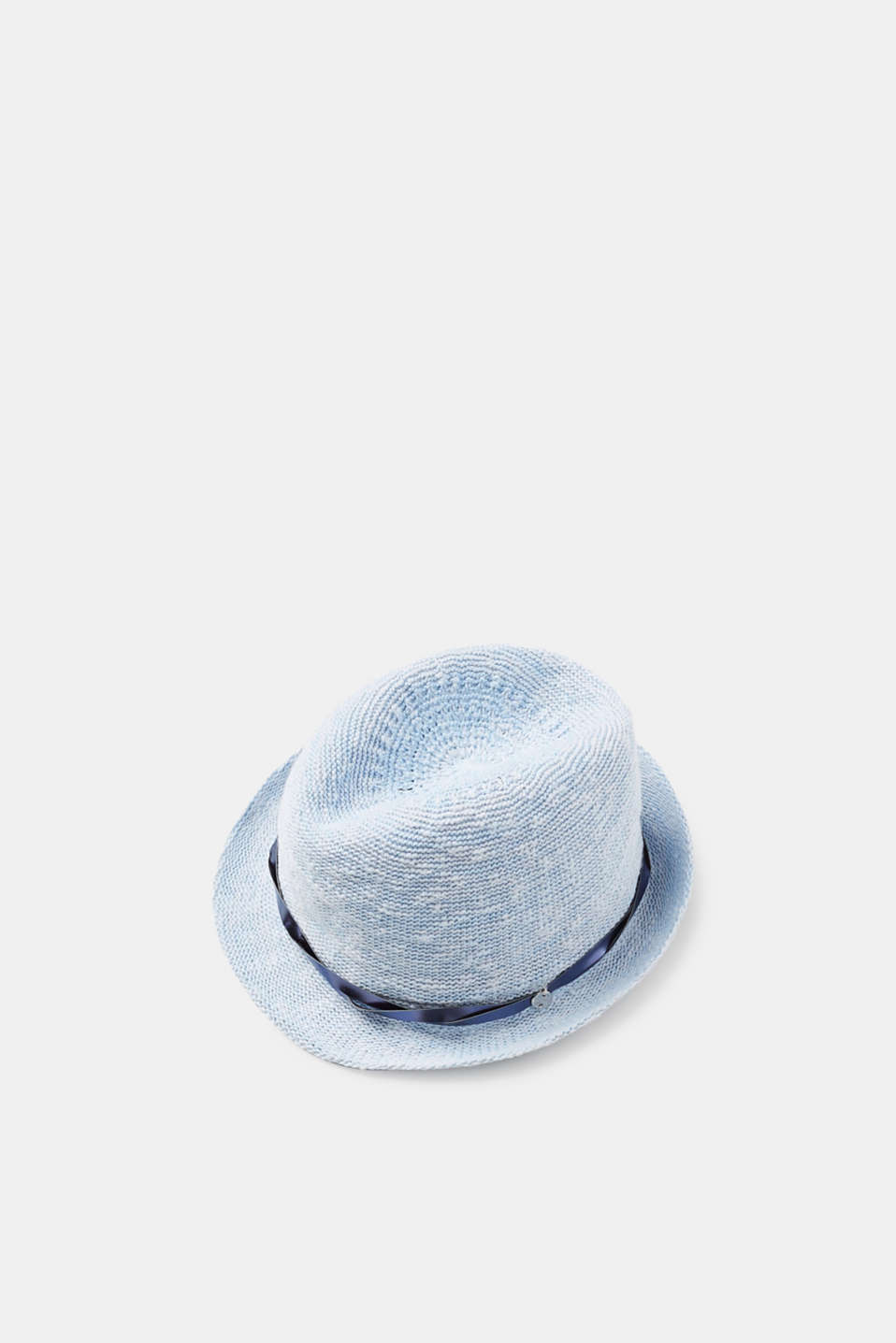 Esprit - Trilby in a bast look with a decorative band