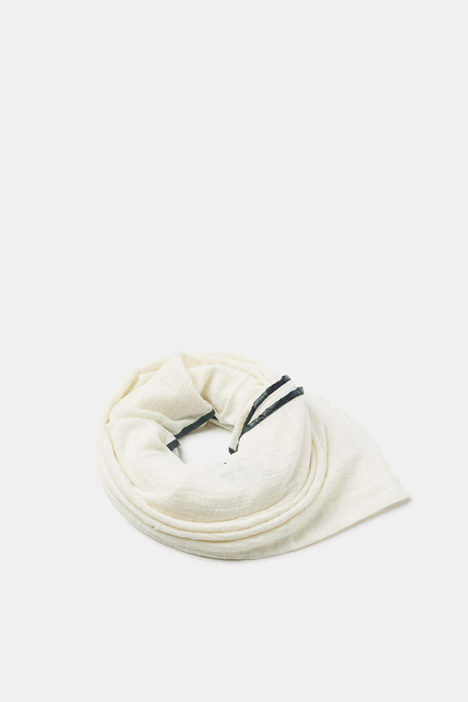 Esprit - Textured cotton scarf