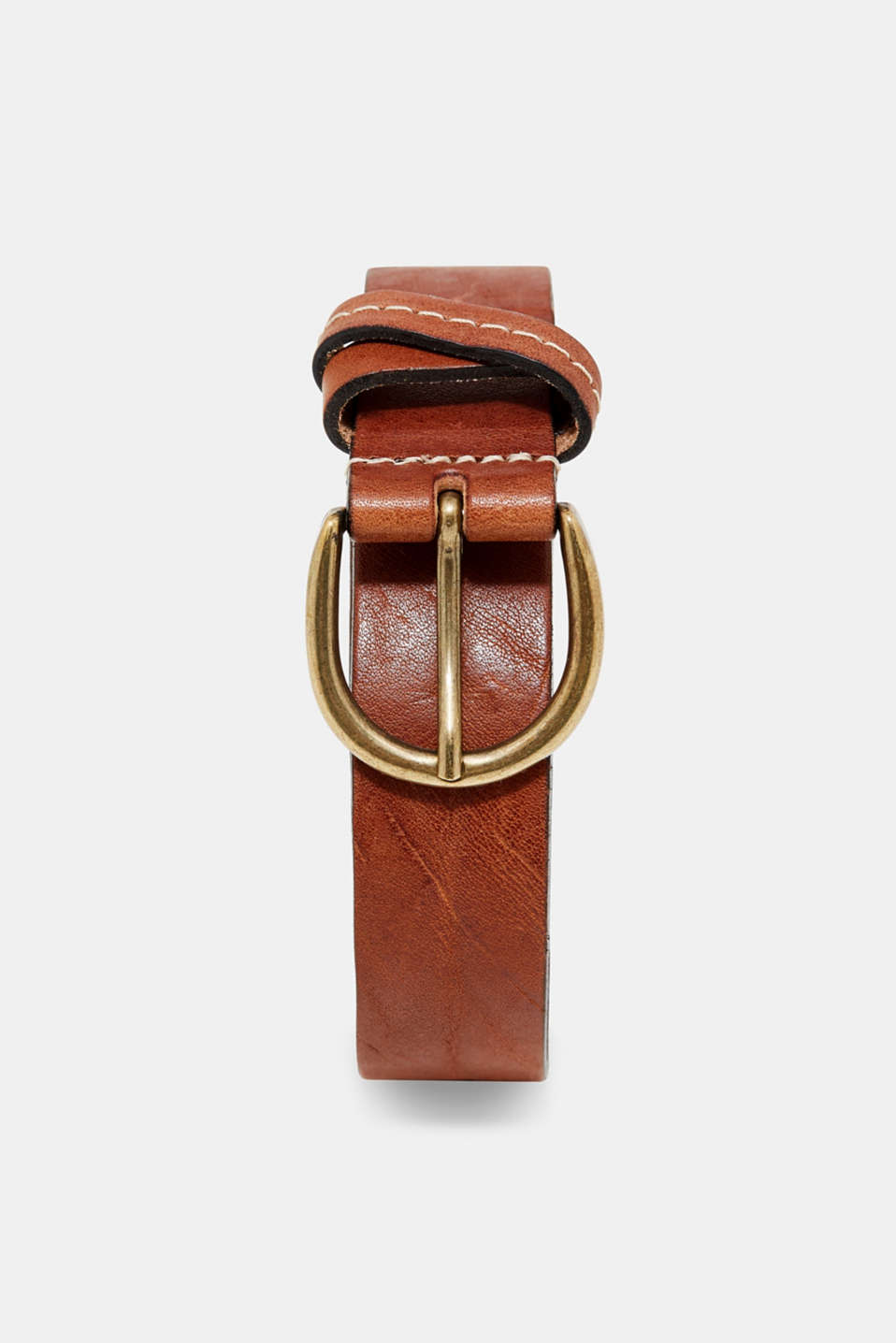 Esprit - Belt with a vintage finish, in leather